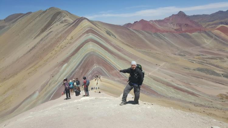 montaña arcoíris