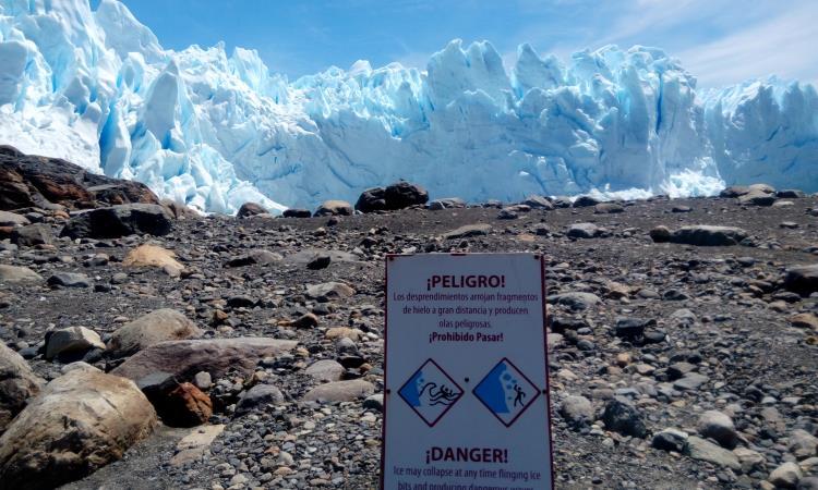 peligro con los desprendimientos de hielo