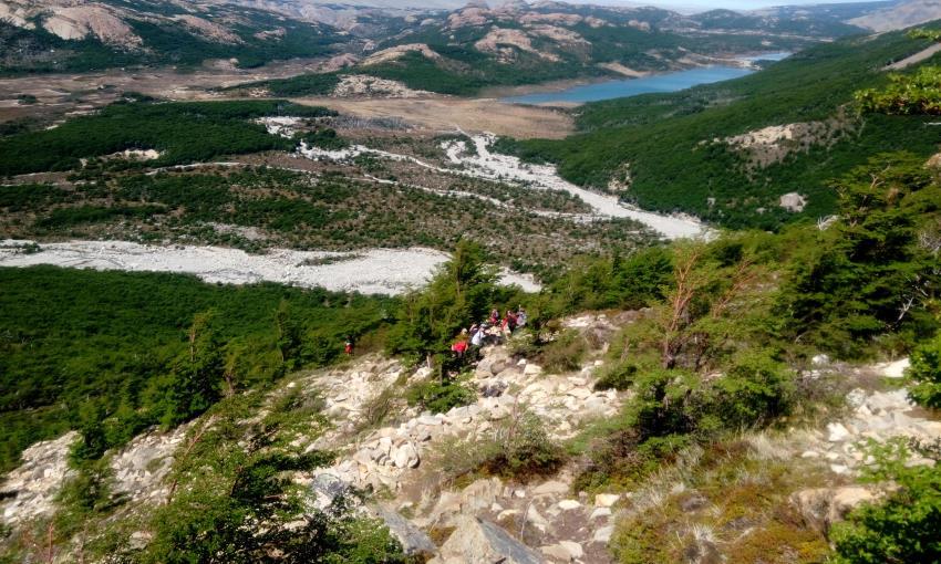 Subiendo al Cerro Chaltén
